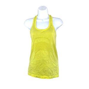 Lululemon yellow swiftly tank size 4